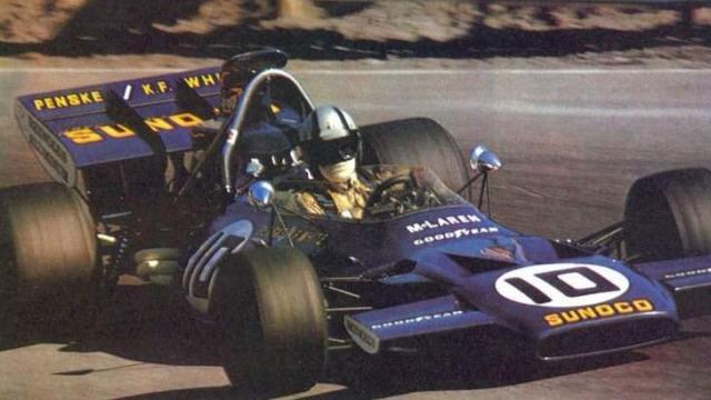 A bordo de um McLaren, Mark Donohue foi terceiro no Canadá em 1971