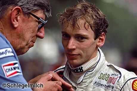 Bellof e seu chefe de equipe em 1984, o experiente Ken Tyrrell