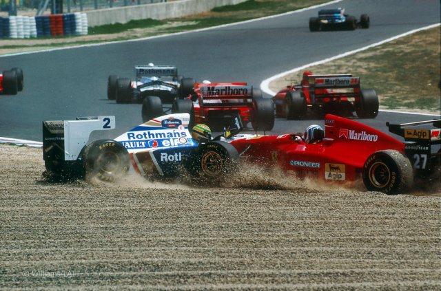 Acidente na largada tirou Senna do GP do Pacífico:  prova em Aida valeu pelos desempenhos de Barrichello e Fittipaldi